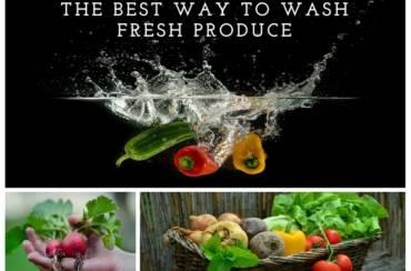 Best way to wash fresh produce